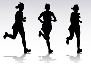 figures running